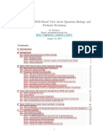 More Precise TGD Based View About Quantum Biology and Prebiotic Evolution (Pitkänen)