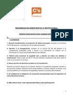 30 propuestas para cambiar España