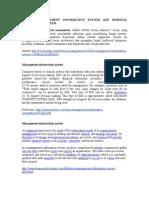 Definisi Management Information System and Hospital Information System