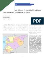 A Guerra Civil Síria, o Oriente Médio