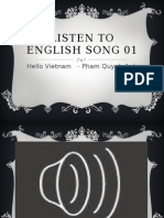 Listening With English Song