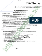 CBEE 2012 MSc| MVSc Biotechnology Question Paper pdf