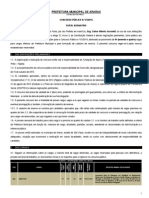 PREFEITURA MUNICIPAL DE ARARAS  ESTADO DE SÃO PAULO CONCURSO PÚBLICO N.º 03/2015 EDITAL NORMATIVO