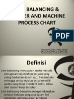Line Balancing & Worker Machine Process Chart