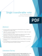 Ppt on Single transferable voting system