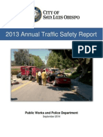 2013 Traffic Safety Report SLO