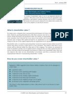 Shareholder Value Analysis Framework
