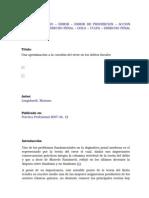 Una Aproximacion a La Cuestion Del Error en Los Delitos Fiscales. Dr. Mariano Longobardi