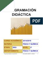 Programación de Física y Química 3ºESO