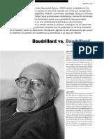 Baudrillard vs. Baudrillard