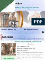 Tea Blending Machinery Manufacturer