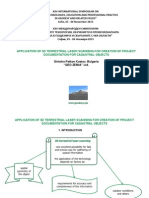 APPLICATION OF 3D TERRESTRIAL LASER SCANNING FOR CREATION OF PROJECT DOCUMENTATION FOR CADASTRAL OBJECTS