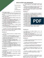 Reglas Básicas de Ortografía - 2015
