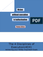 The 4 Disciplines of Execution (4DX)