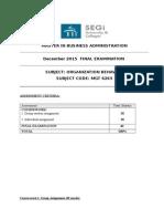 OB Coursework Spesification