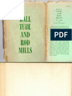 Ball, Tube and Rod Mills, Rose and Sullivan, Publication year 1958