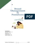 pantaloons brand management