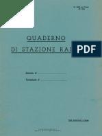 Quaderno Di Stazione Radio