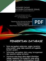 Konsep Dasar Sistem Manajemen Database d