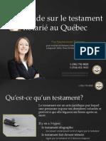 Testament notarié à Québec