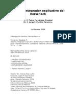 Sistema Integrador Explicativo Del Rorschach