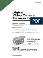 Manual Cámara de Video SONY DCRTRV330