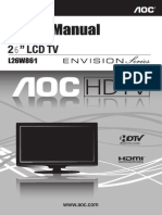 MANUAL TV AOC 26