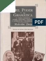 Deas Malco, Del Poder y La Gramatica