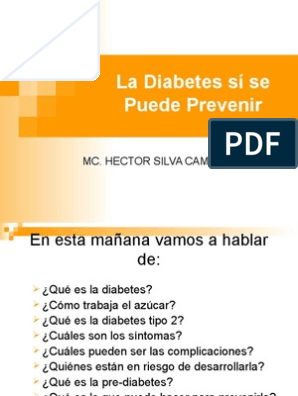 prevencion diabetes mellitus tipo 2 ppt