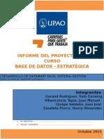 Gestión de Institución Educativa DBE 2015
