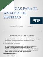 Tecnicas Para El Analisis de Sistemas