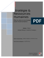 Memoire Master 2 Strategie Et Rh - Mise en Place Et Accompagnement Dun Projet Dexternalisation
