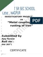 Investigatory Project Chemistry class 12