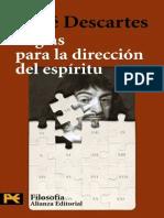 Descartes - Reglas Para La Dirección Del Espíritu Completo