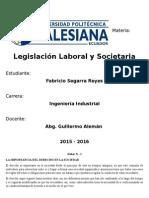 La Importancia Del Derecho en La Sociedad (Legislacion Laboral y Societaria)