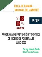 Programa de Prevención y Control de Incendios Forestales - Julio 2002