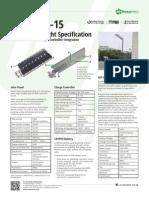 Datasheet PJUTS Integrated 15 W
