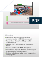 Lecture 3 Characterization and Composition of MSW