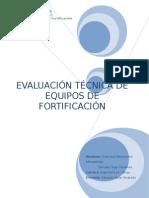 evaluacion equipos de fortificacion