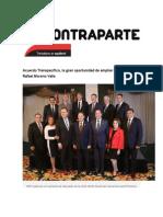 01-10-2015 Contraparte - Acuerdo Transpacífico, La Gran Oportunidad de Ampliar Mercados, Rafael Moreno Valle