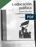 Isabelino Siede La Educacion Politica cap 10