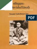 Samvidullasa Manifestations of Divine Consciousness Swami Lakshman Joo - Bettina Bummer