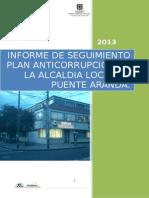 Informe de Seguimiento Del Plan Anticorrupcion de La Alcaldia Local de Puente Aranda