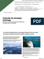 Centrales de Pompage-turbinage