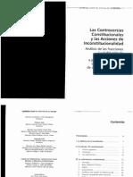 Las Controversias Constitucionales y Las Acciones de Inconstitucionalidad.