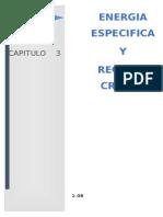 Energia Específica y Regimen Crítico Informe