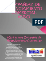 COMPAÑIAS DE FINANCIAMIENTO COMERCIAL