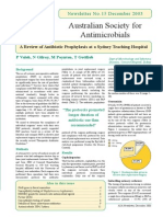 Newsletter Sociedad australiana de antibioticos