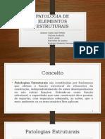 Patologia de Elementos Estruturais