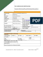 Formulario Solicitud de Servicios Sga